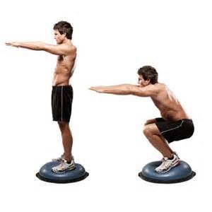Faire du squat sur un bosu   My Fitness Le Site
