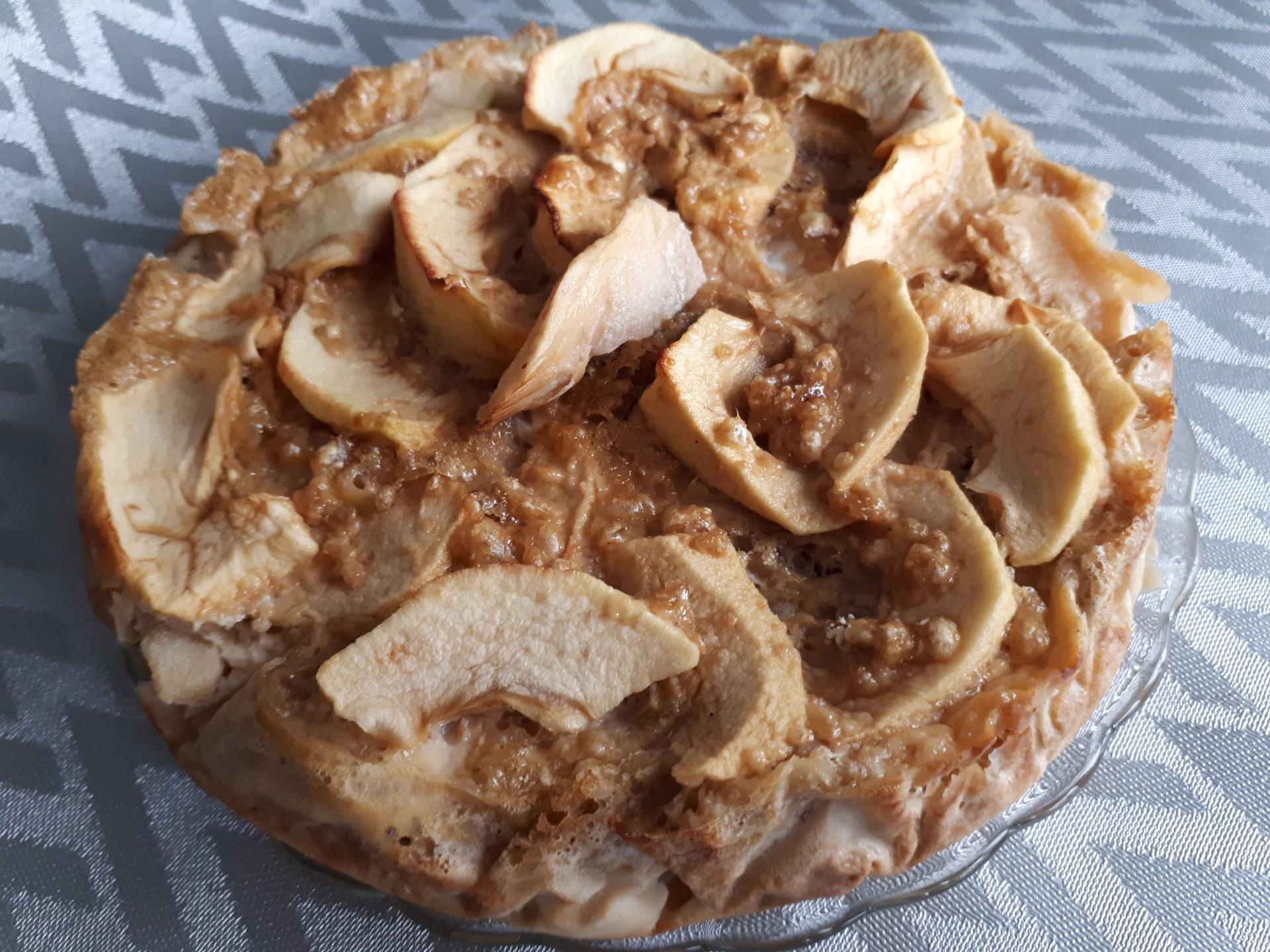 Flan aux pommes (allégé et protéiné)
