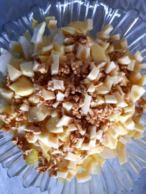 Salade d'endive, pomme, noix, emmental
