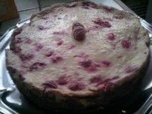 cheesecake diététique framboise