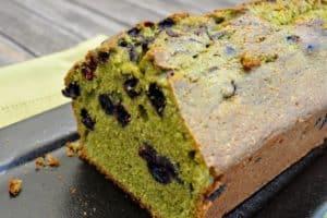 cake amincissant et antioxydant au thé vert et aux cranberries