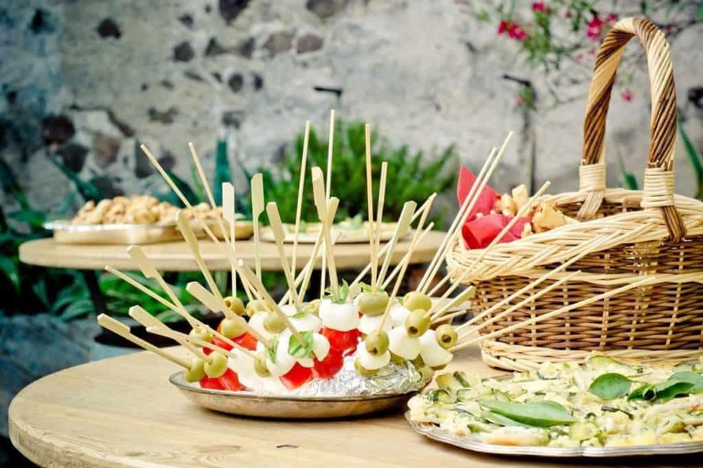 Brochettes apéritives diététiques