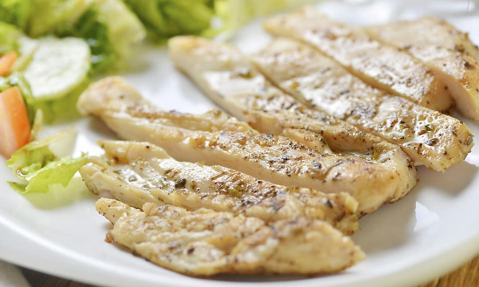 Escalope de poulet au curry (recette spéciale bodybuilder)