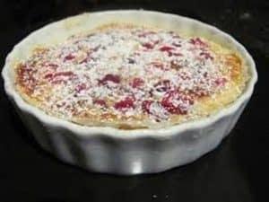 petit flan de crème diététique au raisin