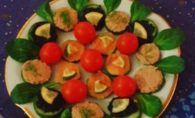 Toasts allégés aux légumes et aux poissons