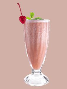 Milkshake fraise banane (vegan et allégé)