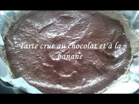 Tarte crue chocolat banane
