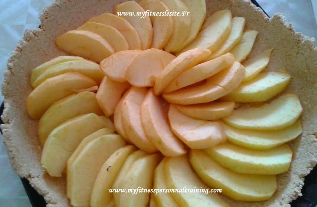 Tarte aux pommes crue allégée