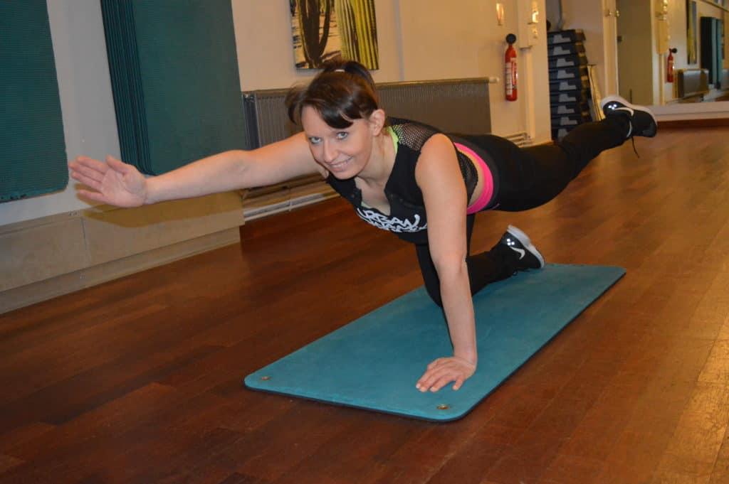 Mat pilates haut et centre du corps