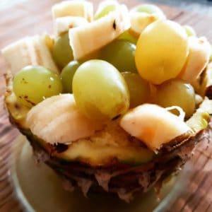 Ananas farci aux 2 raisins