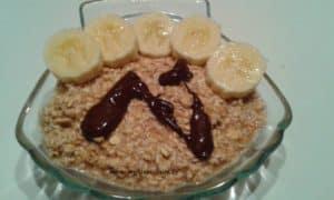 idée p'tit déj: coquille d'avoine chocolat banane