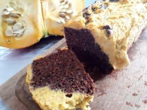 cake au chocolat et au potiron