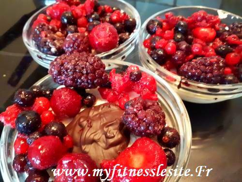Délice protéiné choco coco fruits rouges
