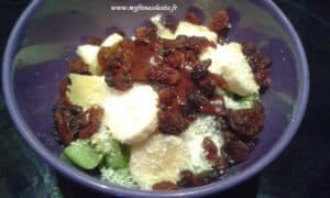 porridge gourmand fruits chocolat
