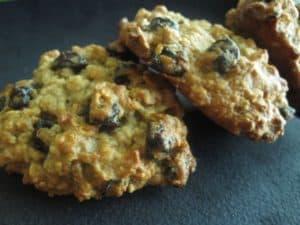 Biscuits moelleux allégés au potiron et aux raisins
