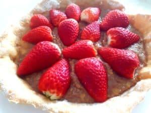 Tarte aux fraises et à la crème de châtaigne sans lactose