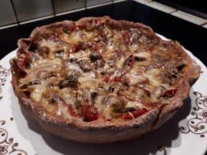 Pizza diététique pour sportif