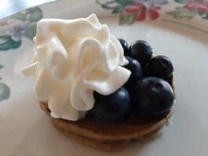 Pancake gourmand aux myrtilles