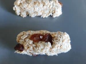 barre de céréale crue raisins noix de coco