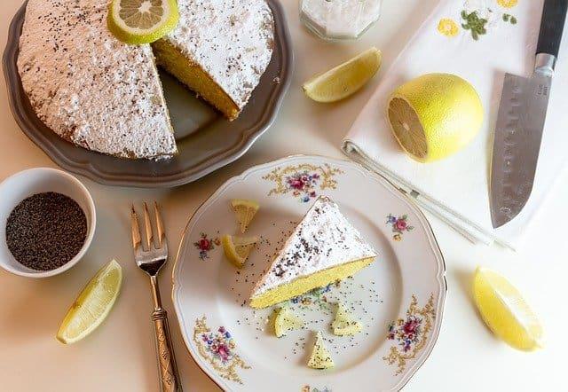Gâteau fondant healthy au citron