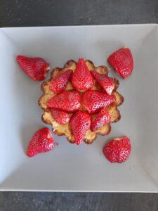 Mini flan aux fraises